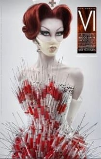 Freaky or Fabulous? SAW Nurse Wears The Blonds Syringe Corset