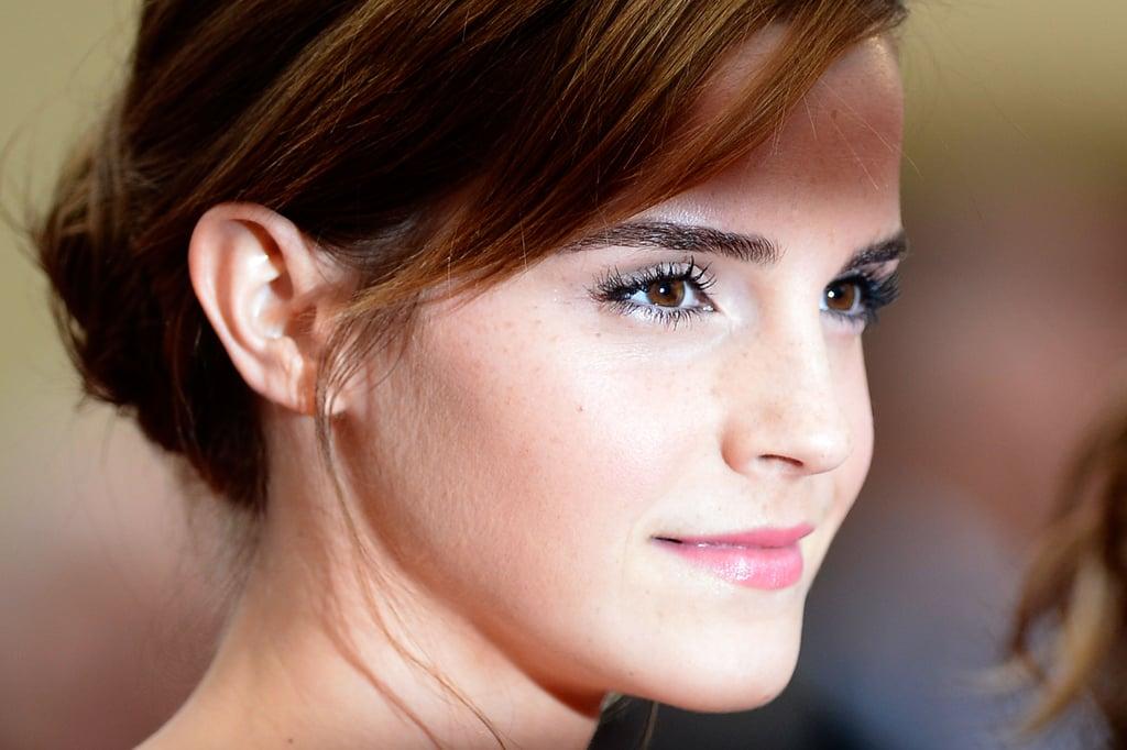 Emma up close — that skin!
