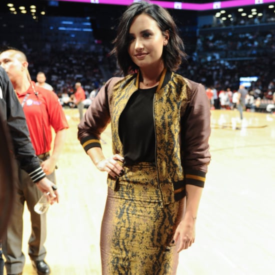 Demi Lovato's Skirt Suit at Basketball Game July 2016