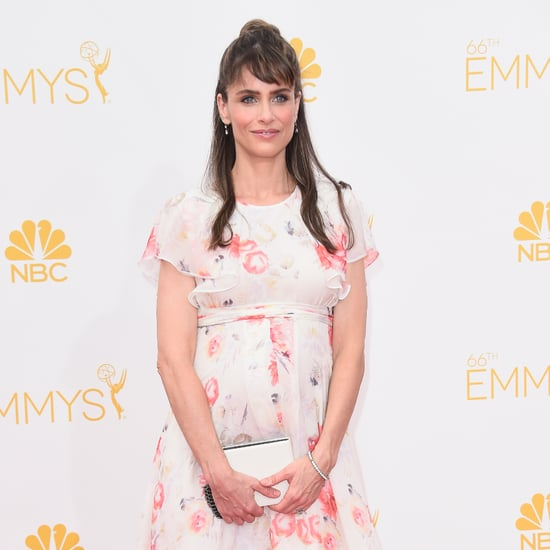 Pregnant Amanda Peet Pictures at 2014 Emmy Awards