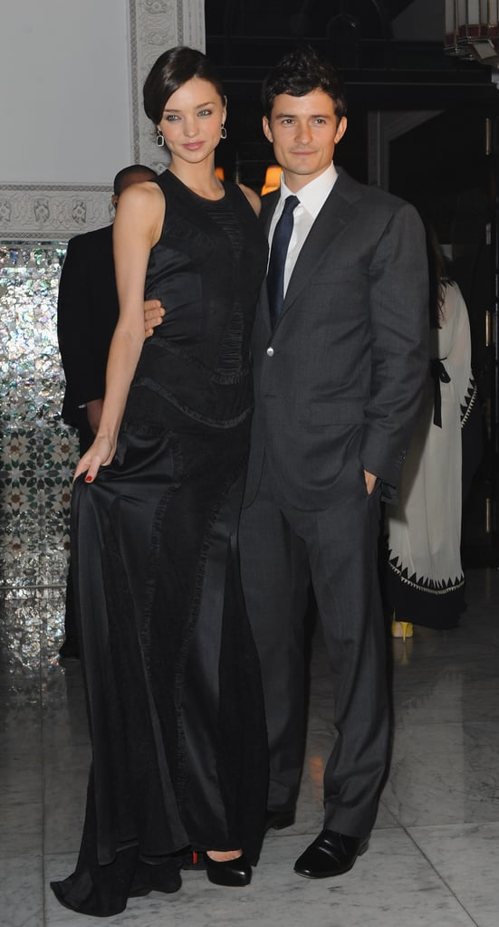 Miranda and Orlando dressed up for the opening of the Chopard flagship store in Marrakech, Morocco, in Nov. 2009.