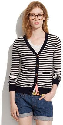 Travel cardigan in stripe