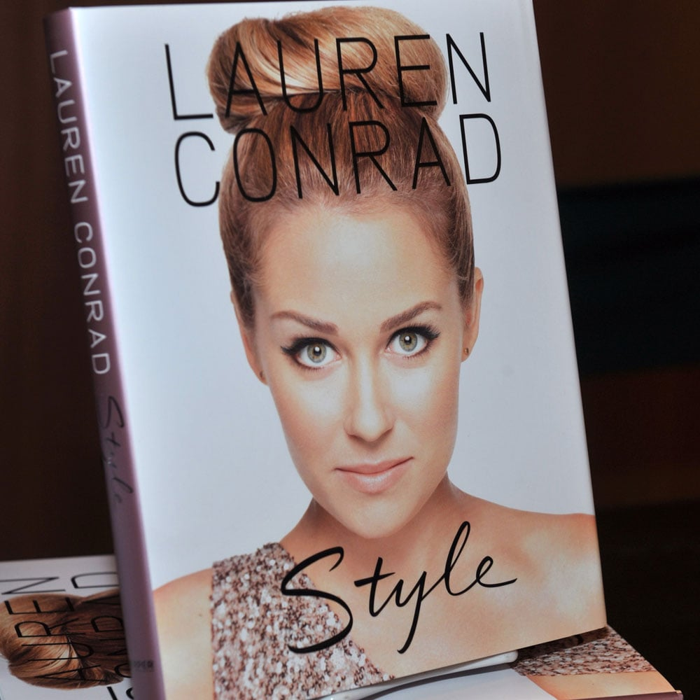 Lauren used a picture of her with a high bun to illustrate her beauty book.