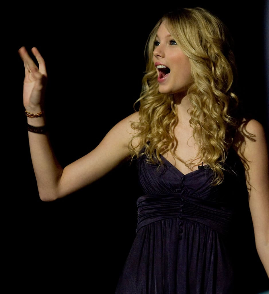 Taylor Swift waved to fans during the CMA Music Festival in June 2008.