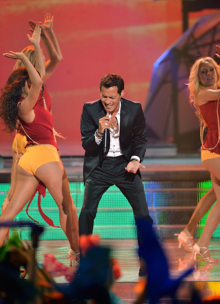 Marc Anthony gave an energetic performance at the Premios Juventud event in Miami.