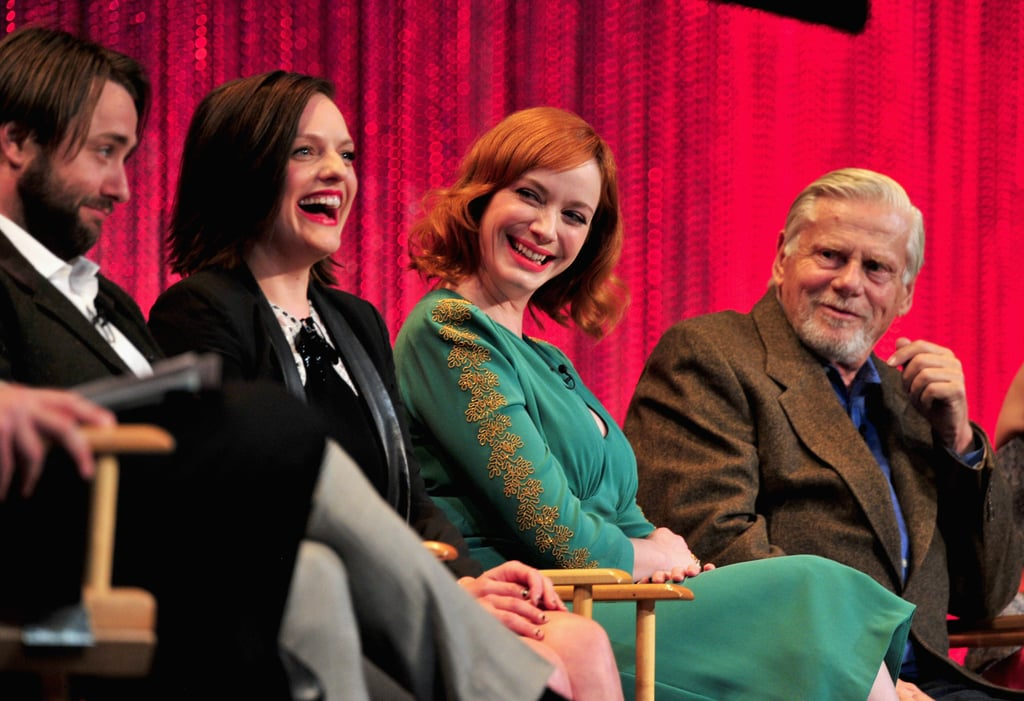 Vincent Kartheiser and Elisabeth Moss sat near Christina Hendricks and Robert Morse.