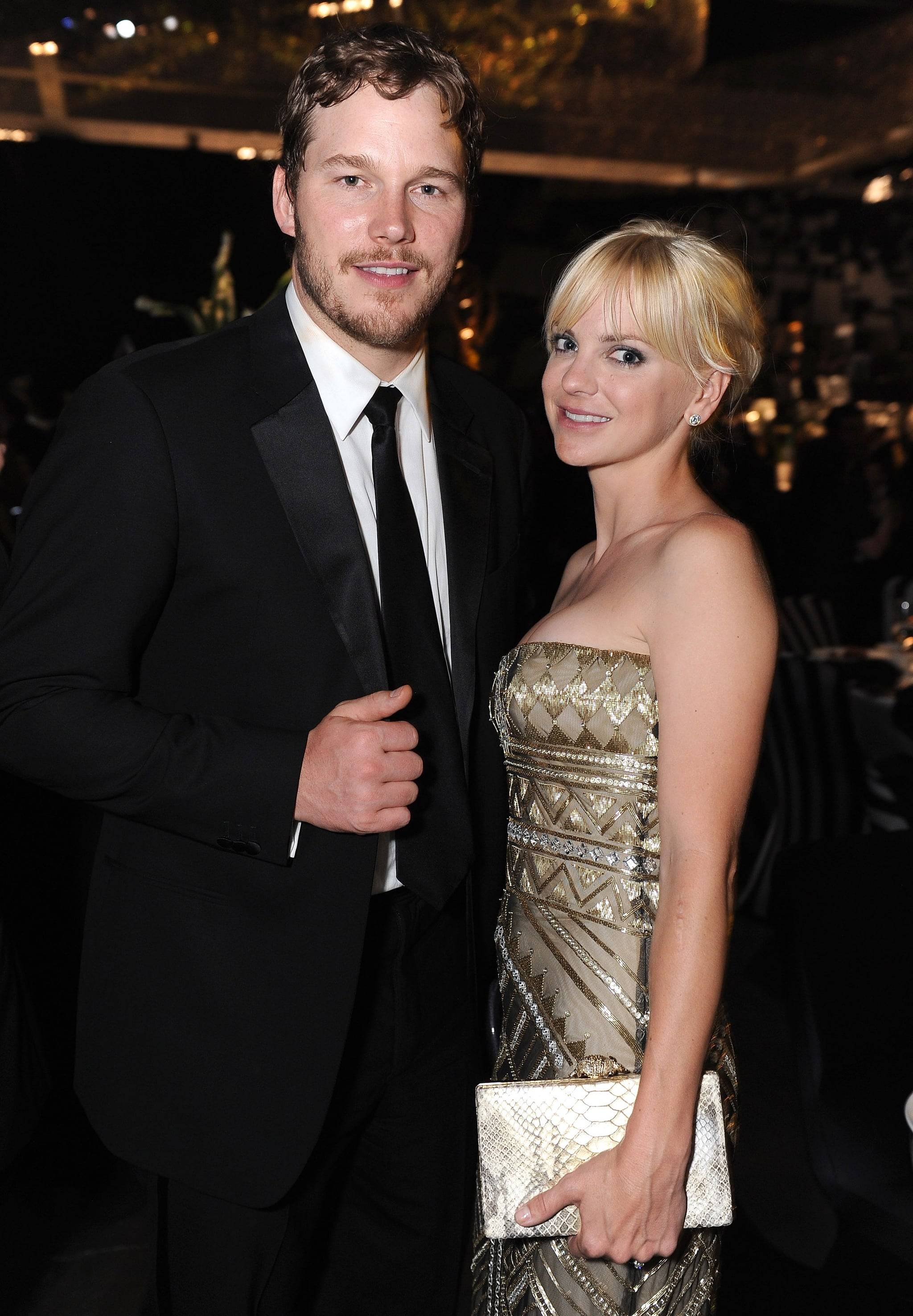 Chris Pratt and Anna Faris at the Emmy's Governor's Ball.
