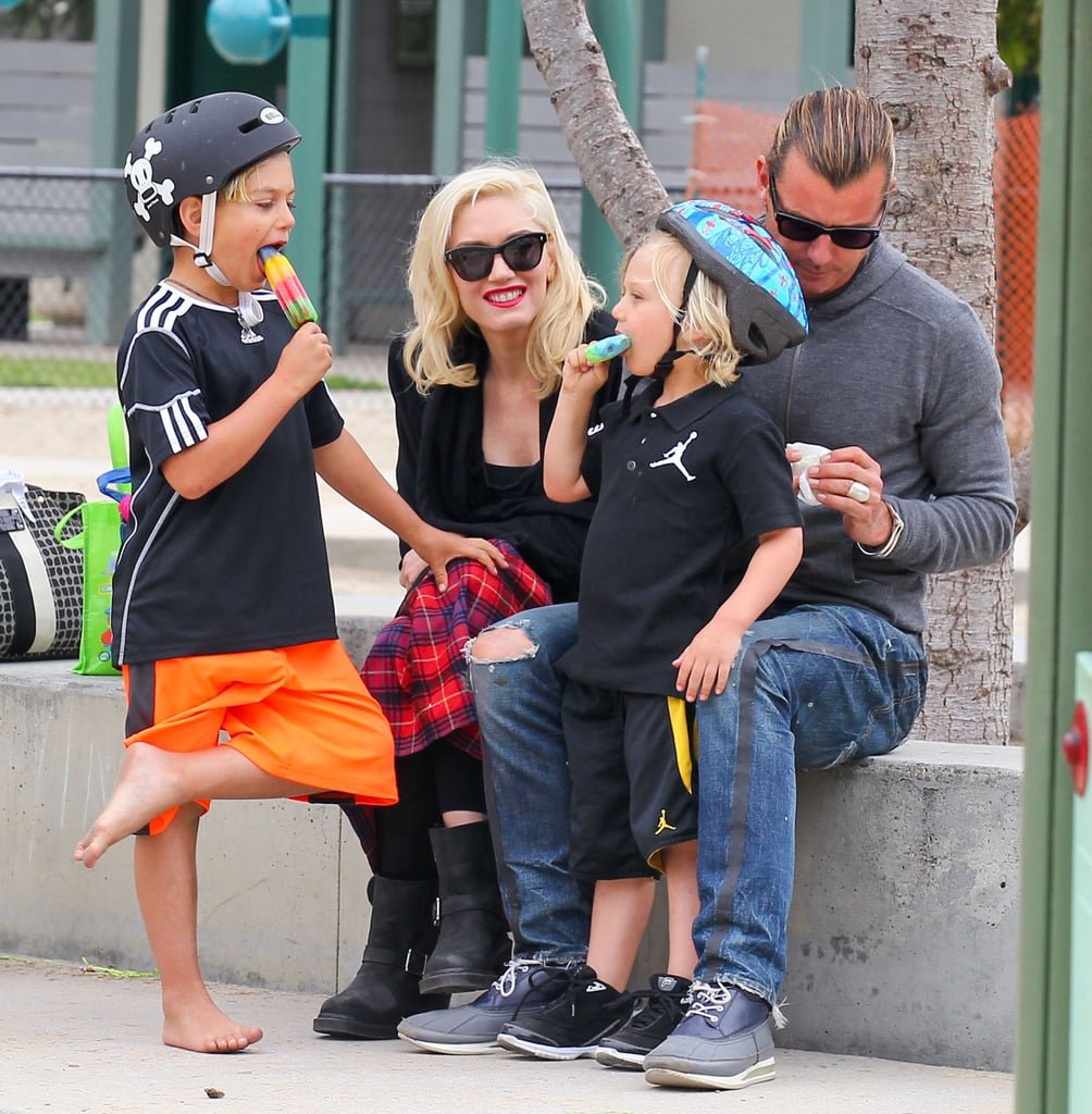 Gwen Stefani and Gavin Rossdale spent Saturday at an LA park with their boys Kingston and Zuma.