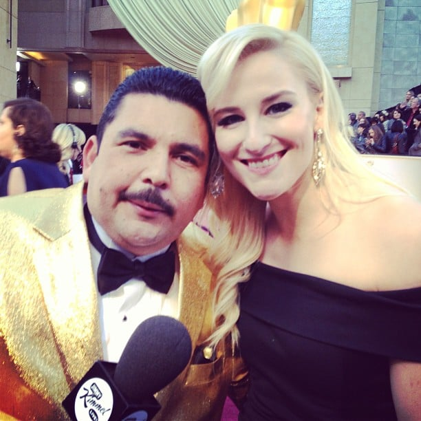 We chatted with our Oscars red-carpet neighbor, Guillermo from Jimmy Kimmel Live!, while we waited for the celebrities to arrive. Source: Instagram user popsugar