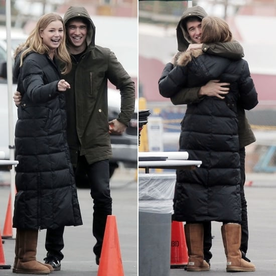 Emily and Josh Show PDA While Filming a PSA
