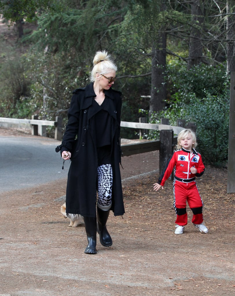 Gwen Stefani and Zuma went to an LA park together.