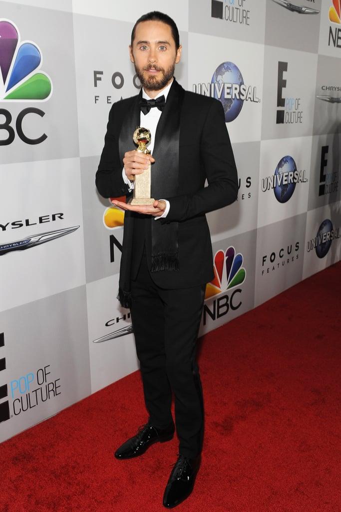 Jared Leto held onto his award.