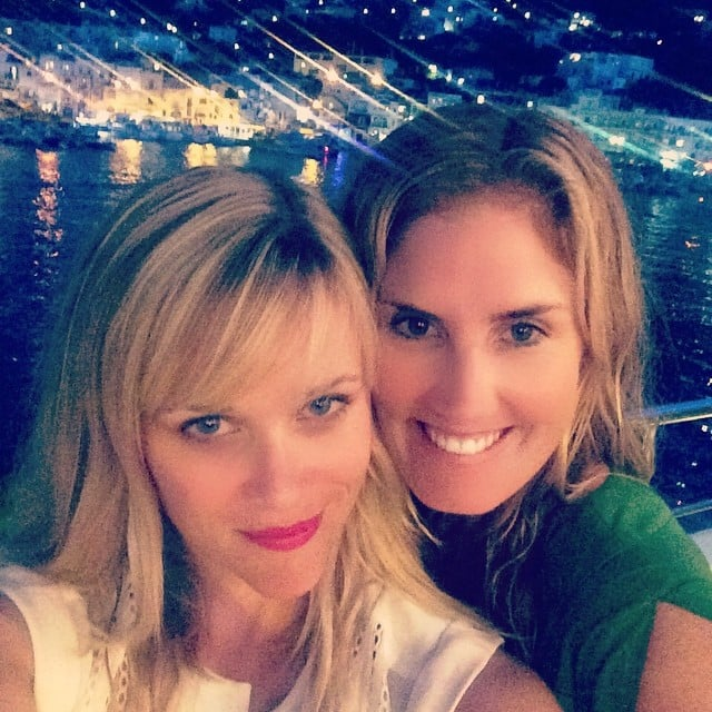 """Oh how the stars shine for good friends,"" Reese wrote about these selfie she shot with pal Mary Alice Haney.  Source: Instagram user reesewitherspoon"