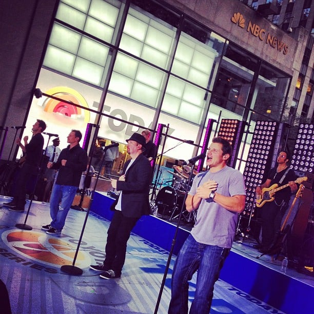 98 Degrees reunited on Today. Source: Instagram user todayshow
