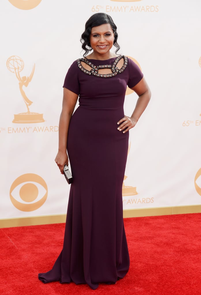 Mindy Kaling stepped out for the 2013 Emmys.