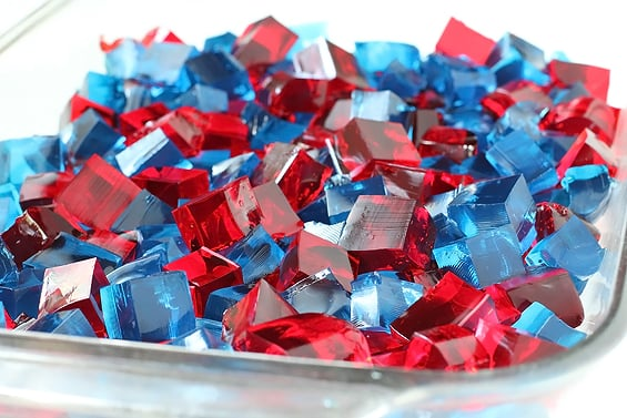 Red, White, and Blue Jell-O