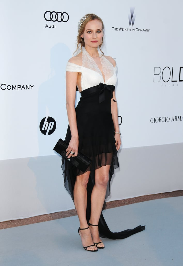 This gauzy black-and-white halter-style Chanel gown — with an awesome asymmetrical hem, no less — turned heads at the 2010 amfAR gala.