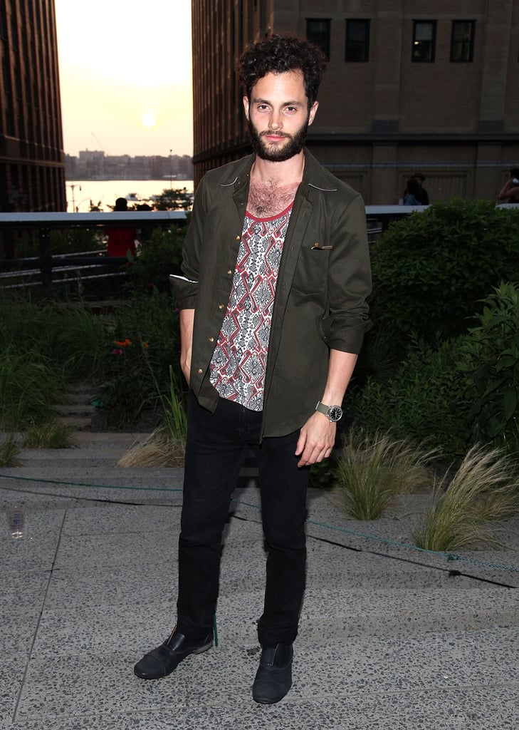 Penn Badgley attended Coach's Summer Party on the High Line in NYC.