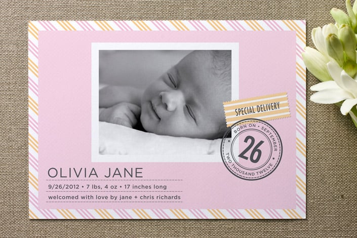 Special Delivery Birth Announcement