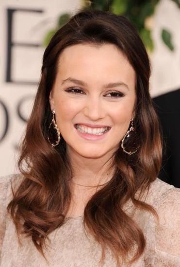 Leighton Meester at Golden Globes 2011