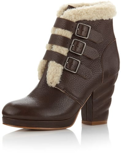 See by Chloe Shearling Buckle Bootie