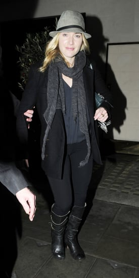 Pictures of Kate Winslet at Scott's Restaurant in London