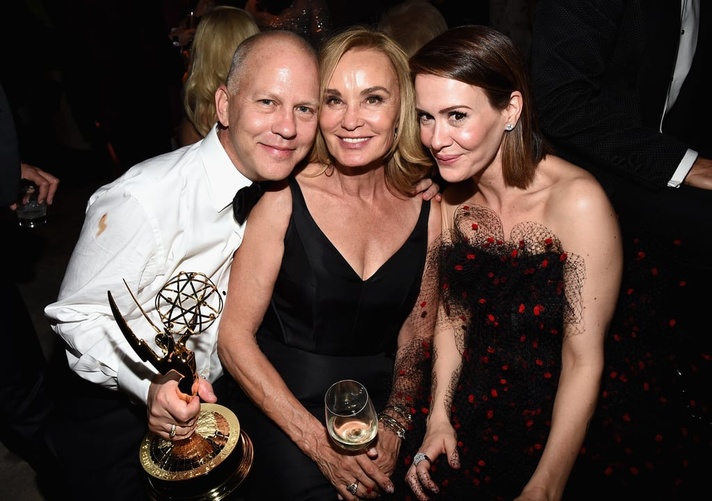 Ryan Murphy, Jessica Lange, and Sarah Paulson celebrated together at the Fox/FX bash.