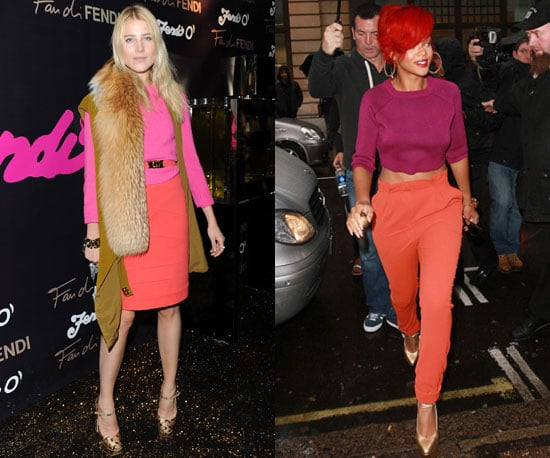 Pictures of Rihanna and Dree Hemingway in Bright, Sorbet Color Trend