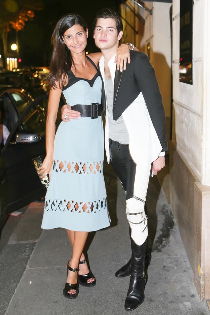 Giovanna Battaglia and Peter Brant II dined with Alexandre Birman in Paris.