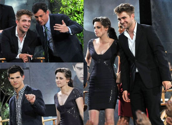 Pictures of Robert Pattinson, Kristen Stewart and Eclipse Cast on Jimmy Kimmel Live Plus Watch Rob on Nightline Talk About Sex