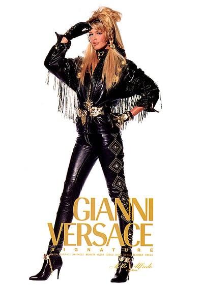 Claudia Schiffer, Versace, 1992