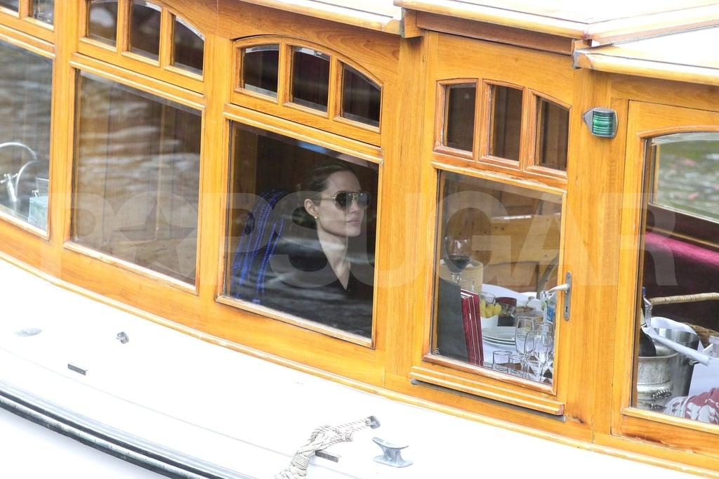 Shiloh Jolie-Pitt and Zahara Jolie-Pitt took a canal boat ride with Angelina Jolie.