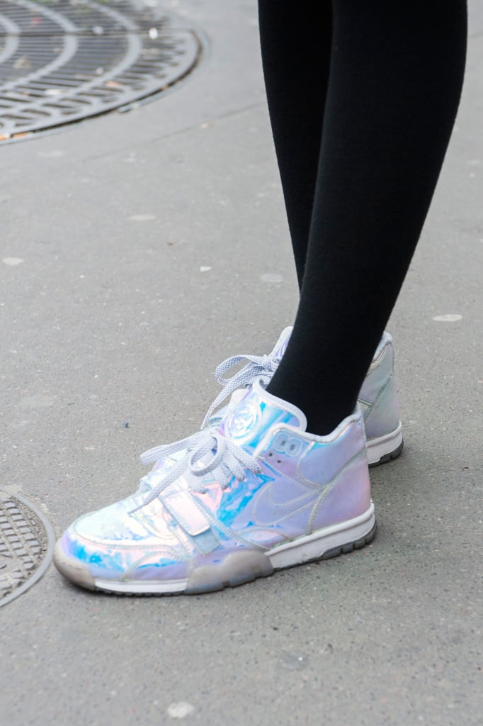 High-fashion sneakers look like this.