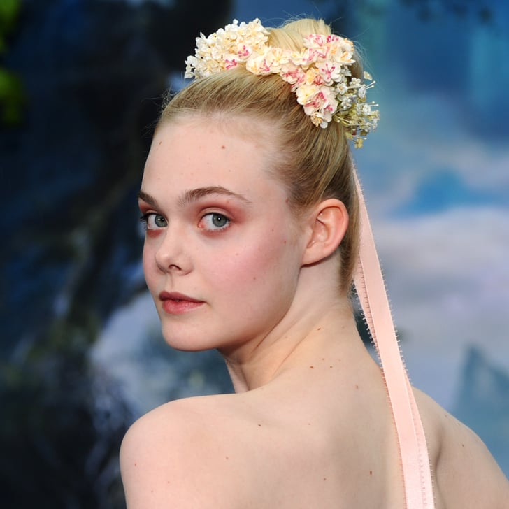 Elle Fanning Hair at Maleficent Premiere | POPSUGAR Beauty