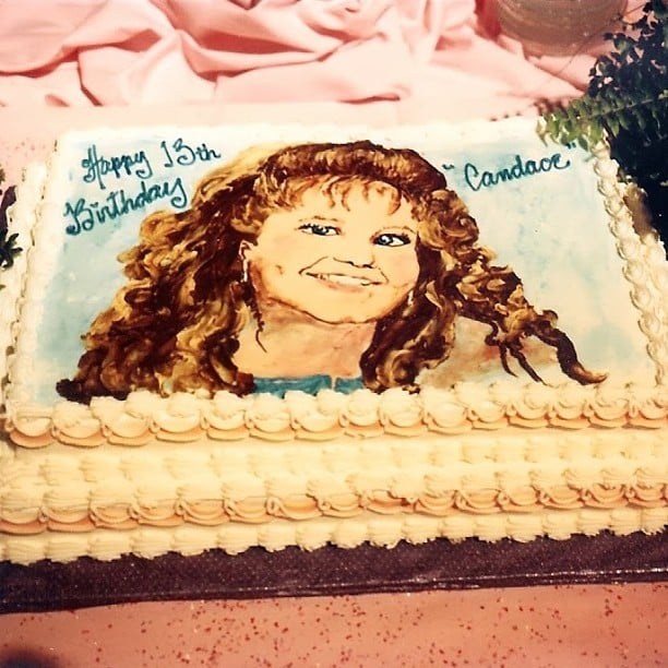 """Andrea: """"I think everybody needs a cake like this on their birthday. 1989. @candacecbure #throwbackthursday"""""""