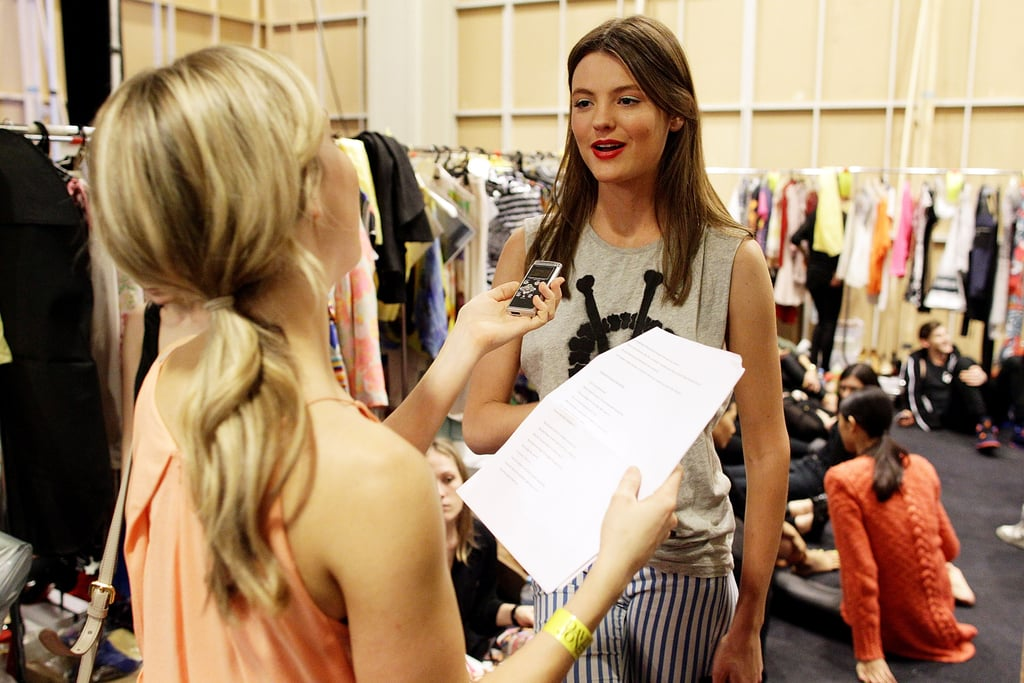 FabSugar ed Ali interviewing Montana backstage — she's so cool!