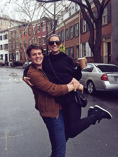 Lea Michele Is the 'Happiest Girl in the World' with BFF Jonathan Groff