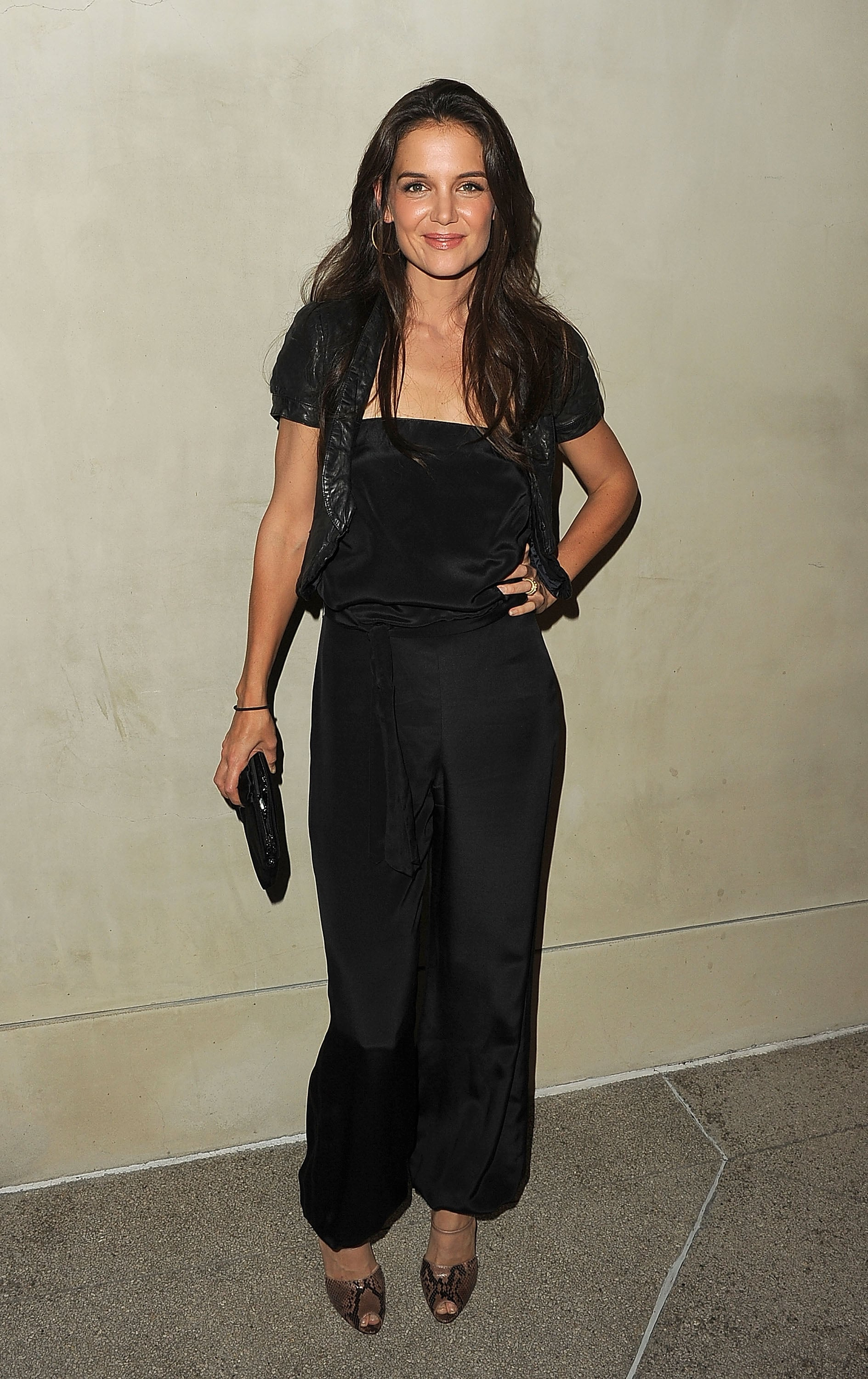 Katie Holmes attended a private dinner in LA.