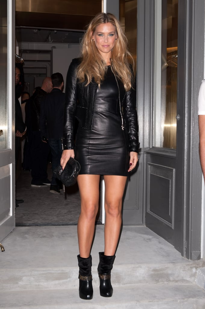 Bar Refaeli donned a slick black LBD and glamazon waves for the event.