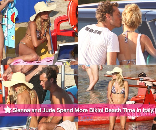 Pictures of Sienna Miller in Bikini and Jude Law Shirtless on Vacation in Italy