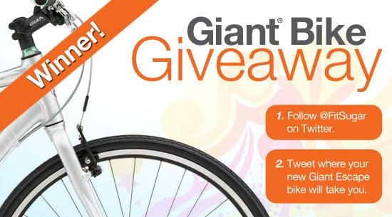 Winner of FitSugar's Giant Bike Giveaway