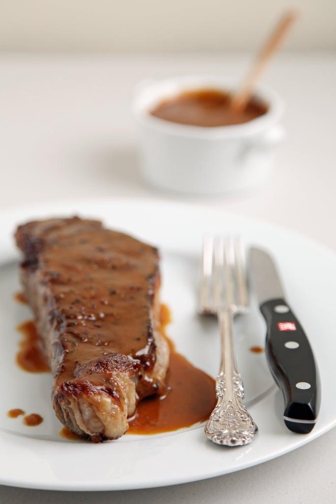 New York Strip Steak With Miso Mustard Sauce