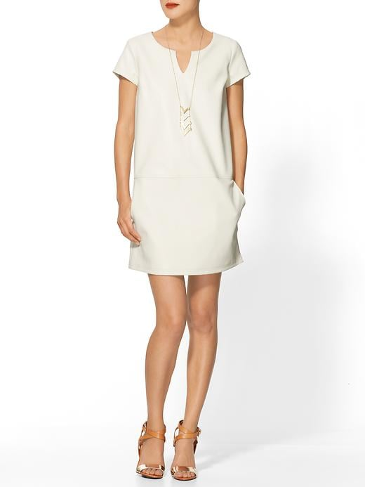 Give your black duds a break and try this simple shift ($45, originally $89) in snowy white.