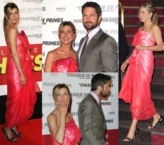 Photos of Jennifer Aniston And Gerard Butler Eating Dinner on a Boat And Premiering The Bounty Hunter in Paris 2010-03-28 14:44:57