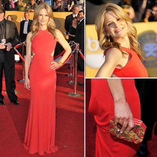 Kyra Sedgwick Smokin Hot in Red Pucci Gown at the 2012 SAG Awards
