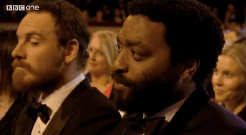 27. Michael Fassbender and Chiwetel Ejiofor Have a Beard-Off