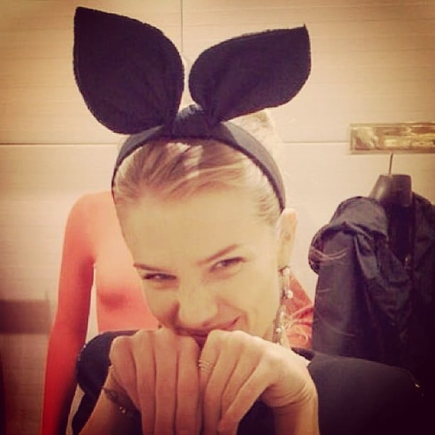 Rosie Huntington-Whiteley played the Easter Bunny for the special holiday. Source: Instagram user RosieHW