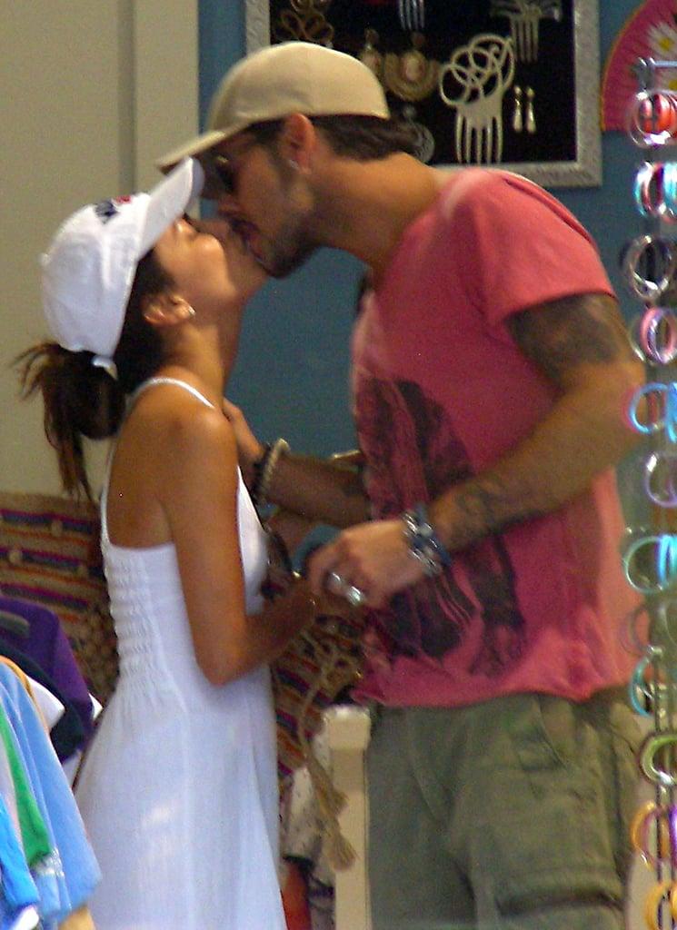 Eva Longoria and Eduardo Cruz broke from sightseeing in Spain for PDA in June 2012.