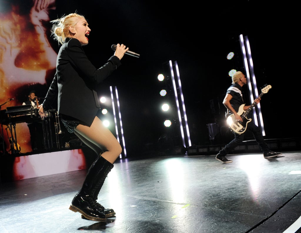 Gwen Stefani rocked out on stage with her No Doubt bandmates.