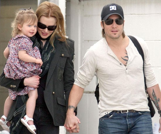 Slide Photo of Nicole Kidman, Keith Urban, Sunday Rose Urban Arriving in Sydney, Australia